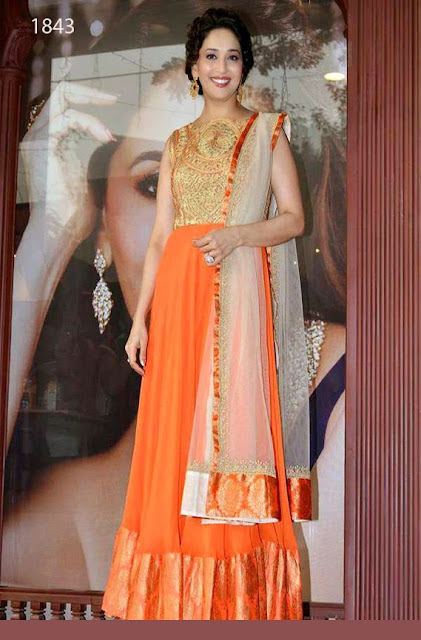 Madhuri Dixit Orange Anarkali