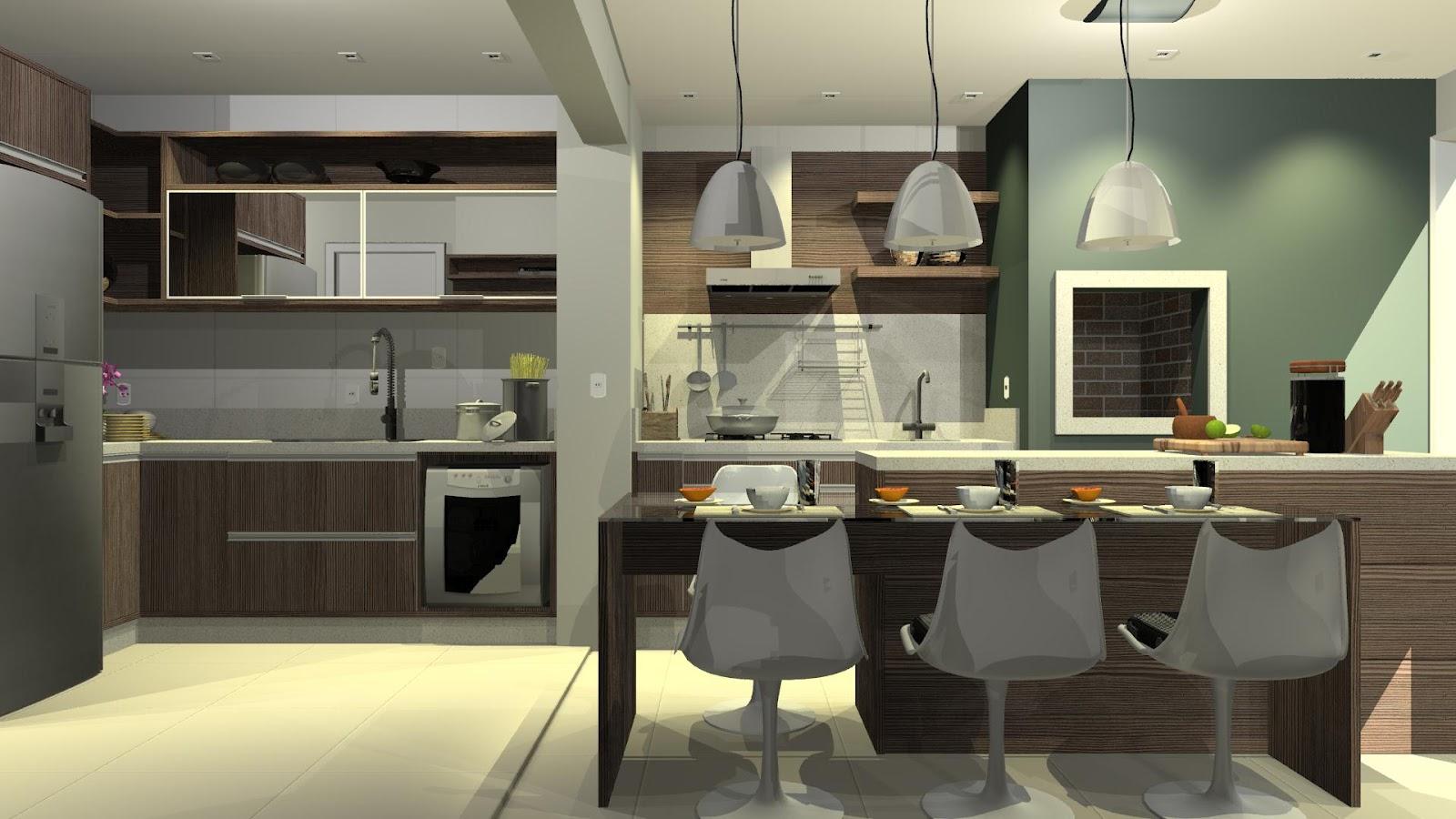 designER Tiago Gelatti: Projeto Cozinha e Varanda com churrasqueira  #AA6321 1600 900