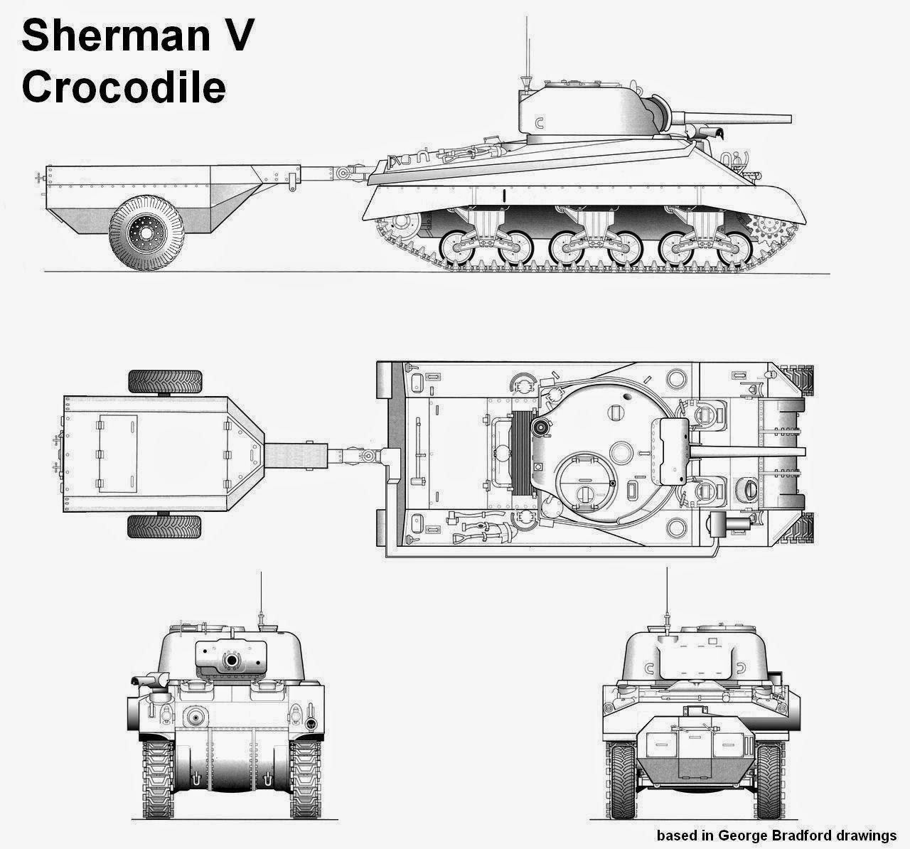 Sherman v crocodile prototype