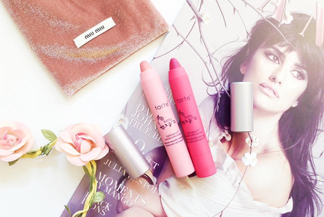 Tarte LipSurgence™ Matte Lip Tint shades Lucky & Lively beauty blog review