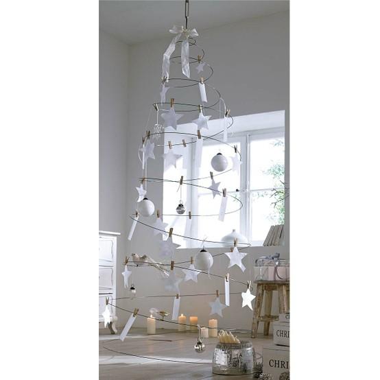 Arbol de navidad de alambre decorar tu casa es - Arbol de navidad de alambre ...