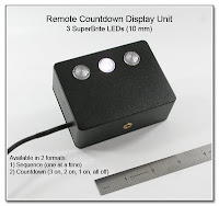 Remote Countdown Display Unit (3 SuperBrite 10 mm LEDs)