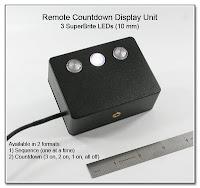 Remote Countdown Display Unit (3 SuperBrite 10 mm LEDs)