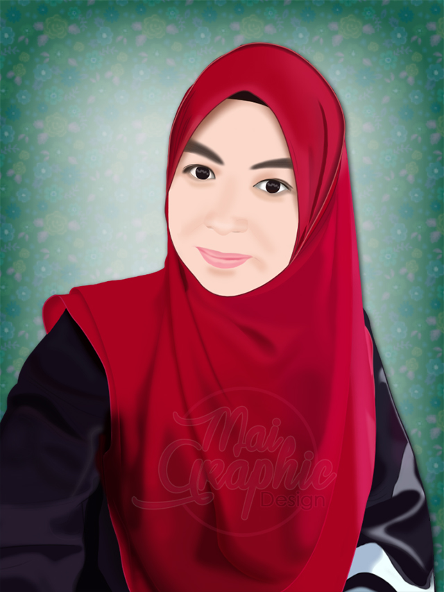 digital potrait, vector potrait
