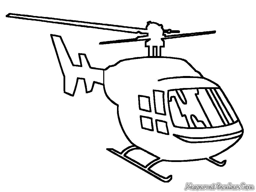 Mewarnai Gambar Helycopter