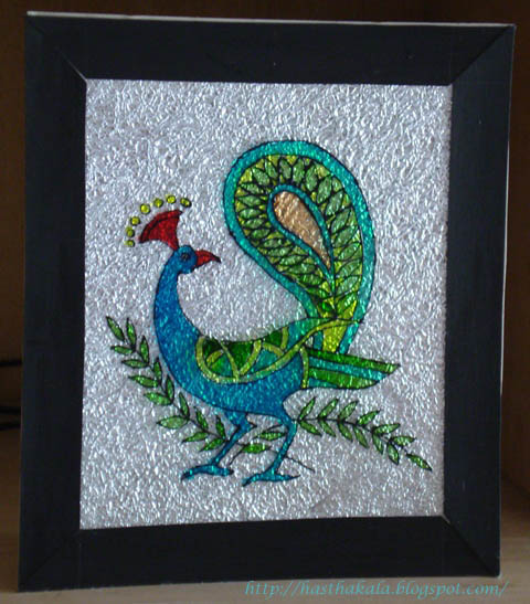 Hasthakala my creative space glass paintings - Creative glass painting ideas ...