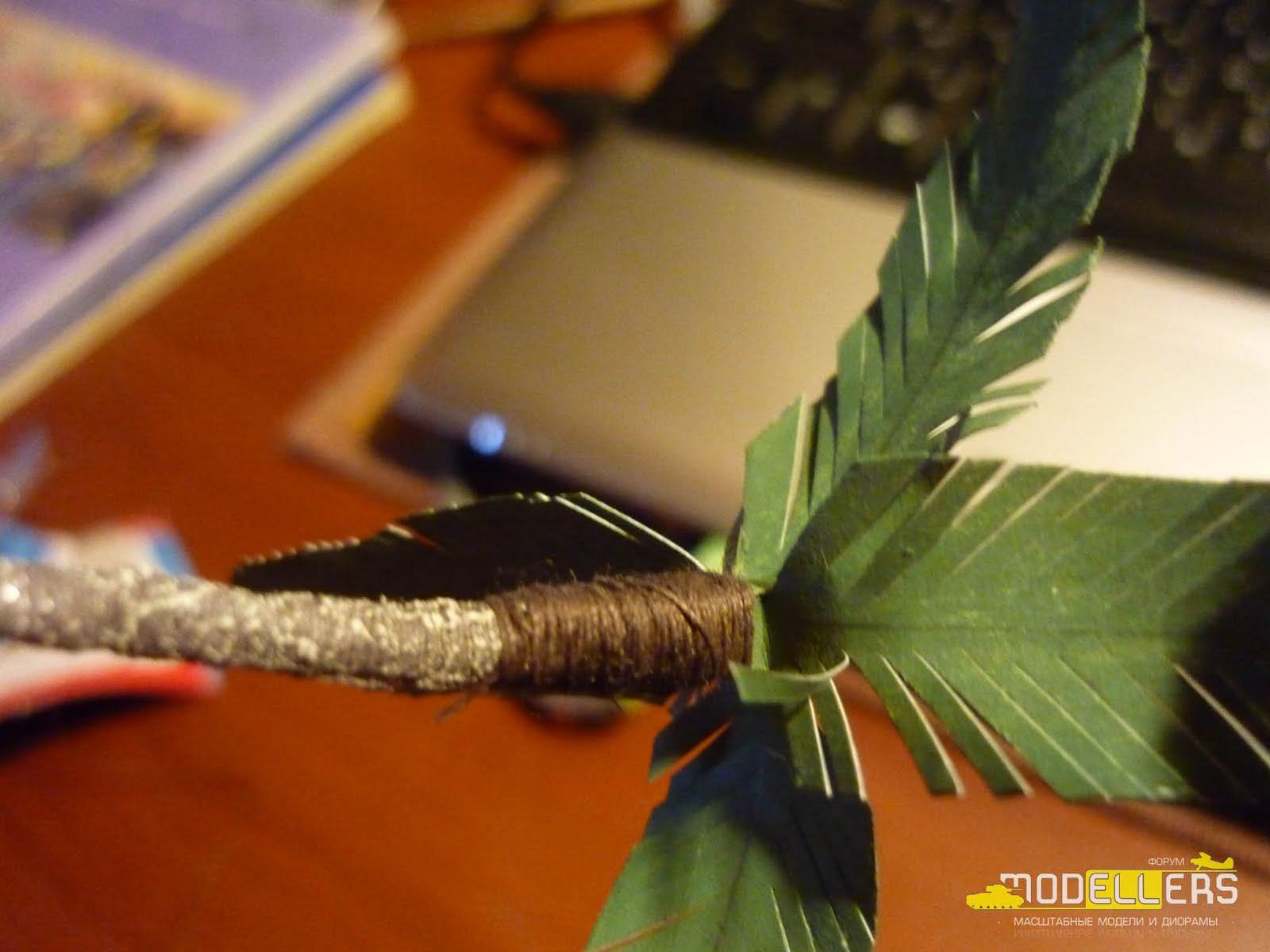 Пальма из пенопласта