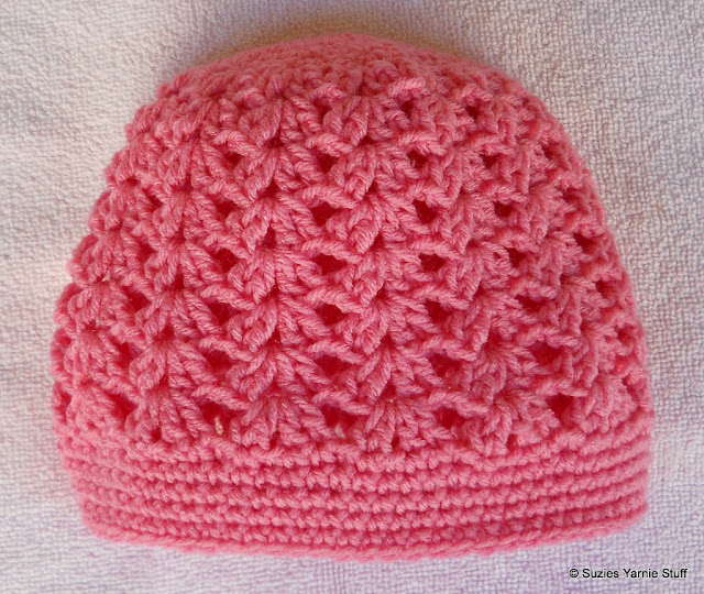 Crochet Hat Pattern Shell Stitch : Suzies Stuff: PERFECT PINK SHELLS CAP