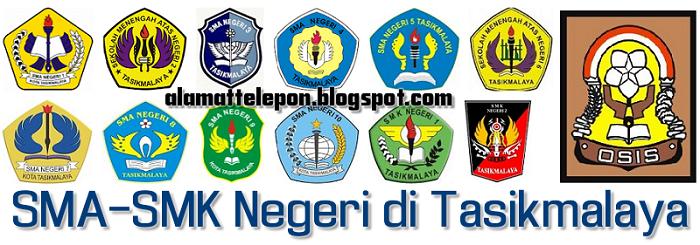 ^Daftar Alamat SMA-SMK Negeri Di Kota Tasikmalaya