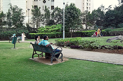 couple on bench in park