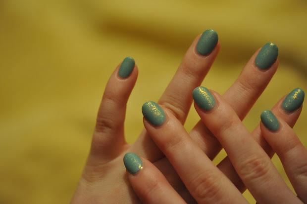 partial polish matte turquoise