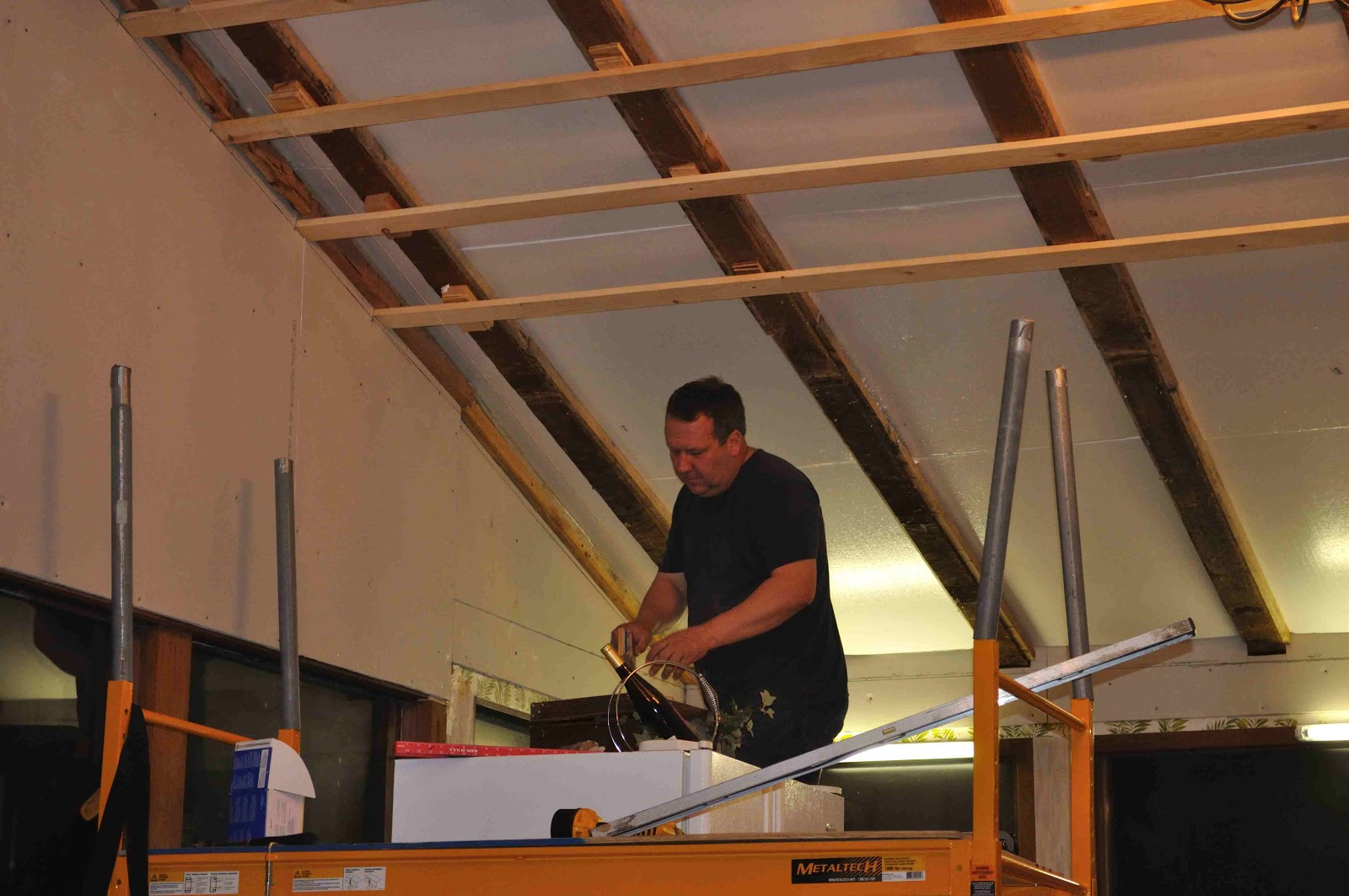 Once Upon a Cedar House: Installing a Pine Tongue and Groove Ceiling ...