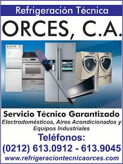 REFRIGERACION TECNICA ORCES, C.A. en Paginas Amarillas tu guia Comercial