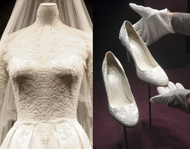 Miss Middleton's wedding dress and shoes