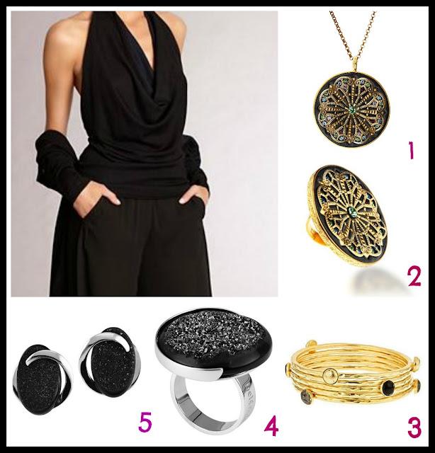 black, Halloween, black jewellery, black rings