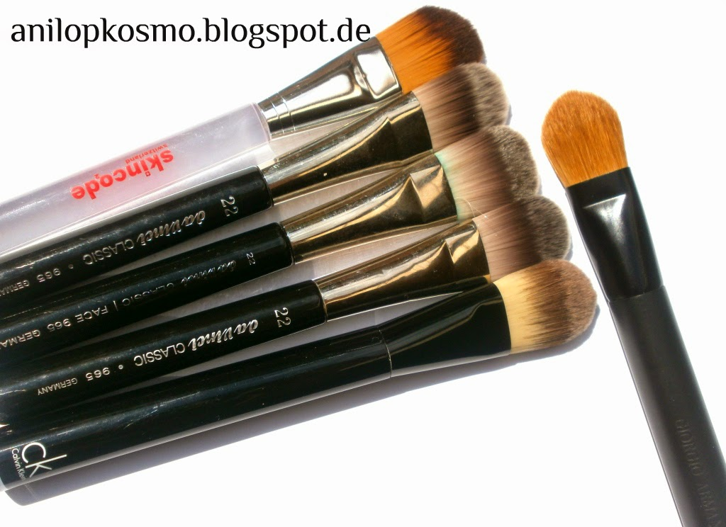 Giorgio Armani Designer Foundation Expert Shaping Brush # 15, отзывы, свотчи, сравнение