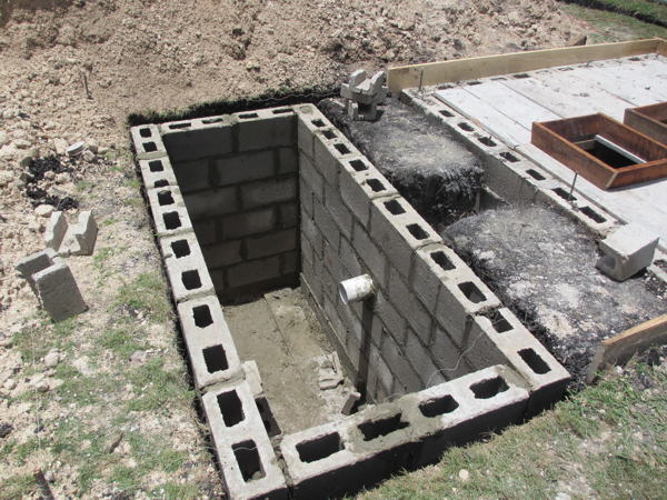 The wright time in belize project flashback septic tank for How to build a septic tank