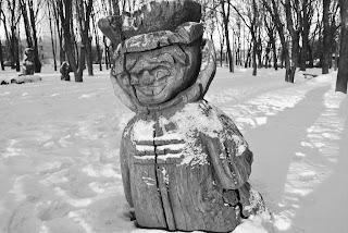 скульптуры в парке пионеров