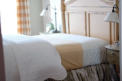 Wonderful I Used A Patterned Quilt On The Top Of My Coverlet.