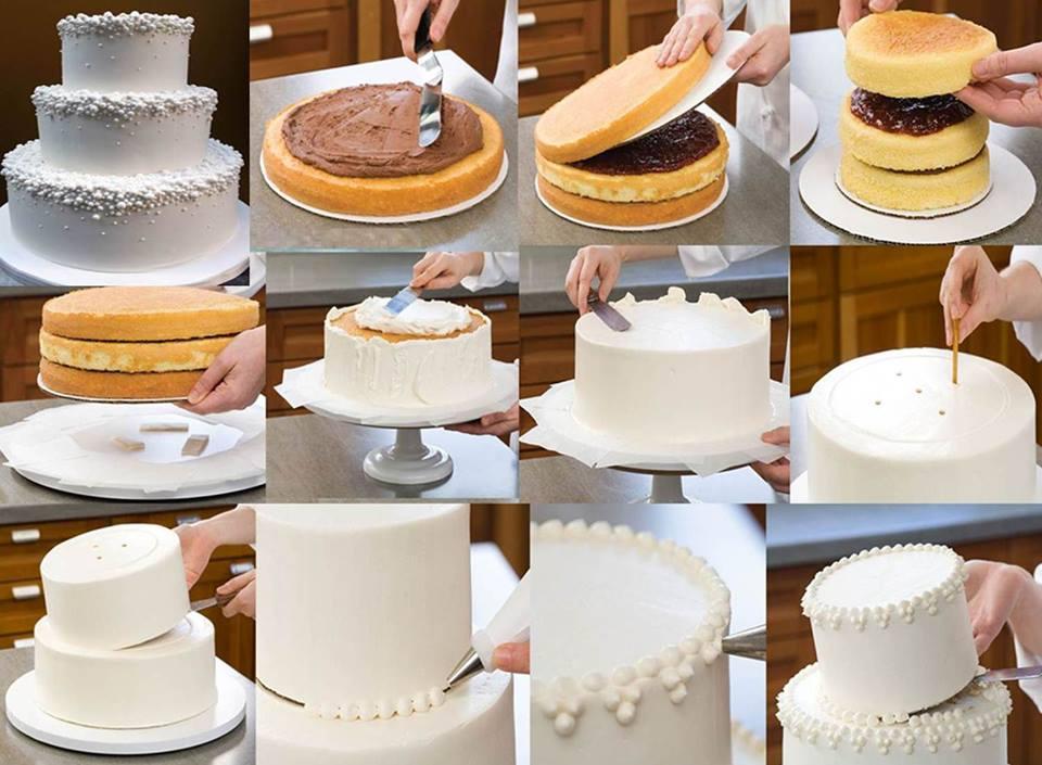 Cake Design Passo A Passo : Blog La Pequetita: BOLO BRANCO-APRENDA COMO MONTAR UM BOLO ...