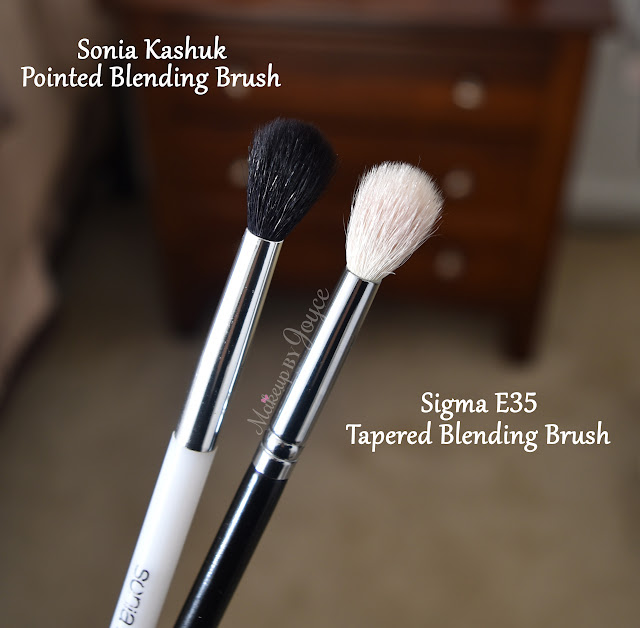 Sonia Kashuk Pointed Blending Brush vs Sigma E35 Tapered Blending Brush Review