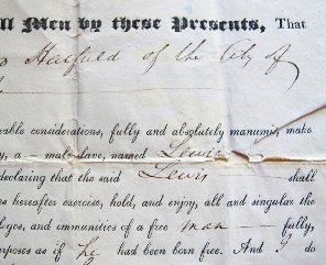 Manumission Document Tells Story Emancipation in NY