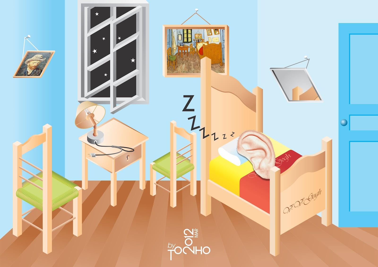 A professora tia lilian o quarto de van gogh por tonho for Dormitorio animado