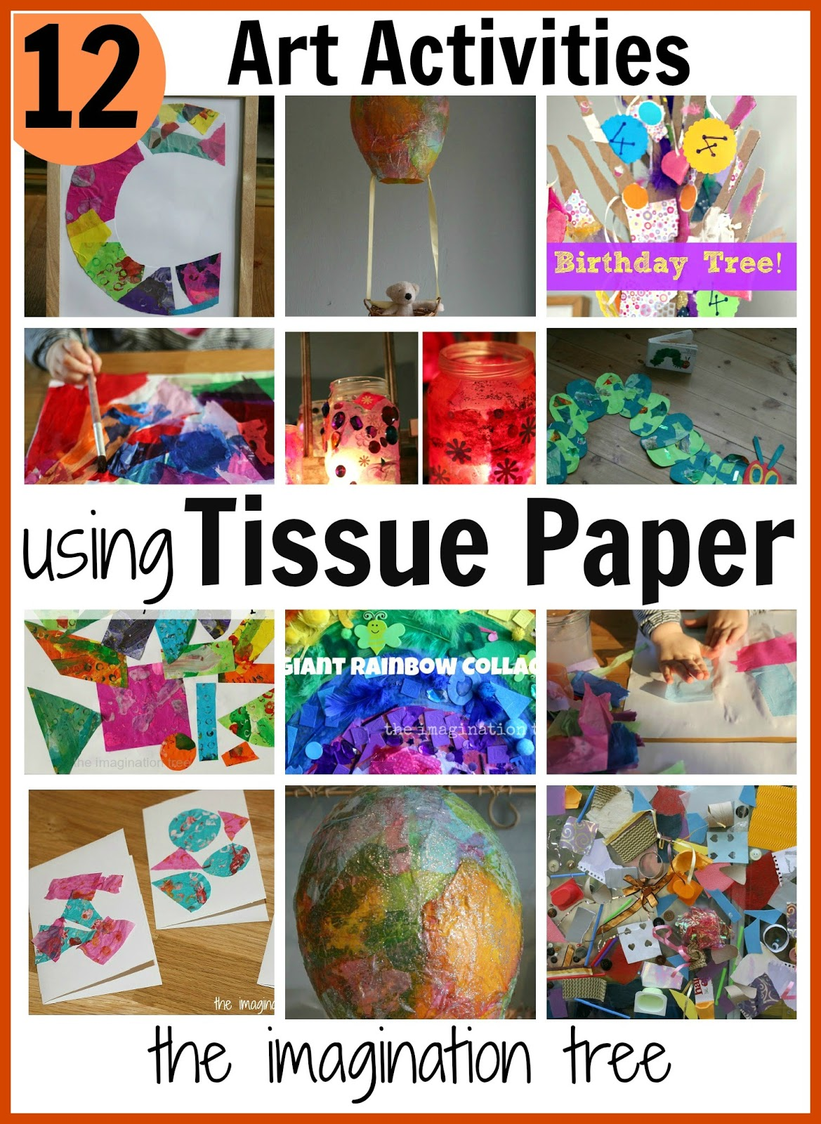 12 Art Activities using Tissue Paper - The Imagination Tree