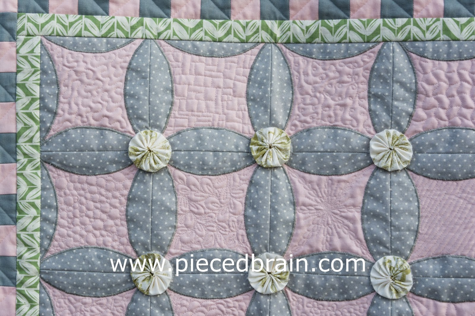 Pieced Brain Foundation Pieced Quilt
