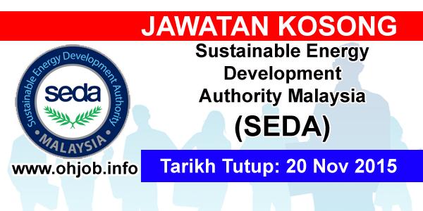 Jawatan Kerja Kosong Sustainable Energy Development Authority Malaysia (SEDA) logo www.ohjob.info november 2015