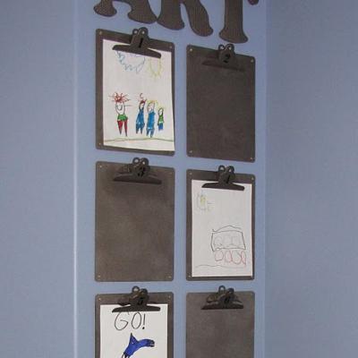 A Lovely Lark 10 Creative Ways To Display Children 39 S Art