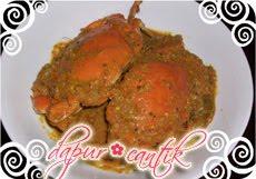 gambar resep masakan gulai kepiting telur dapur cantik