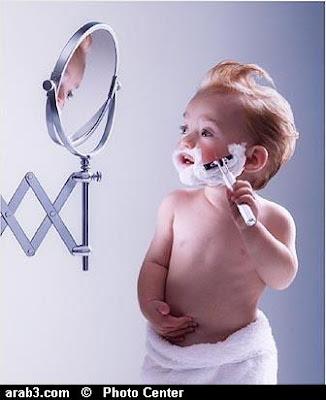 Funny Baby Shaving