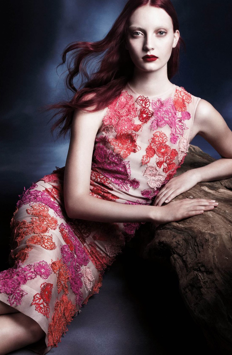 Codie Young in Monique Lhuillier Spring/Summer RTW campaign (photography: Daniel Jackson, styling: Tiina Laakkonen)