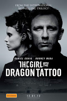 Millenium, The Girl with the dragon tattoo, David Fincher, Daniel Craig, 007, Rooney Mara, Mickael Blomkvist, The Social Network, Lisbeth Salander, top 2012, affiche, poster, teaser, picture