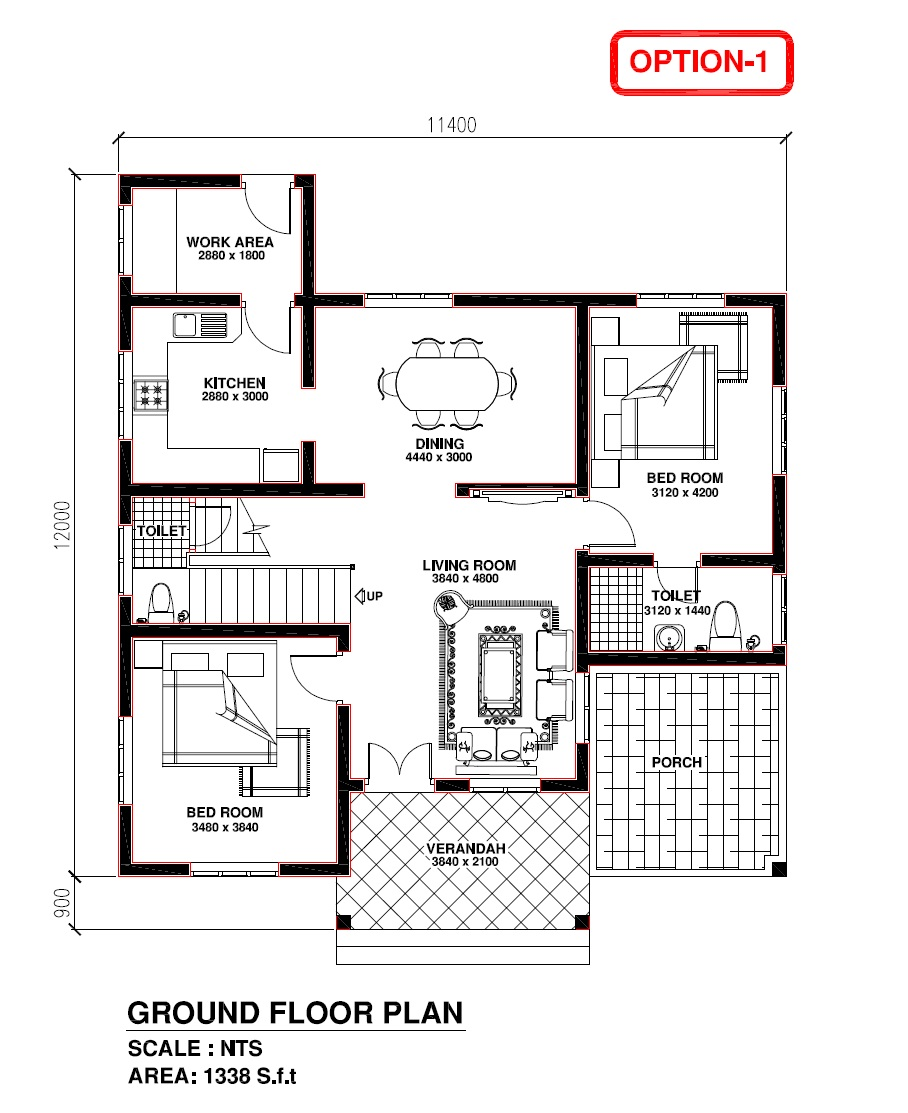 Kerala Model Home Plans: Kerala Building Construction: Kerala Model House 1338 S.f.t