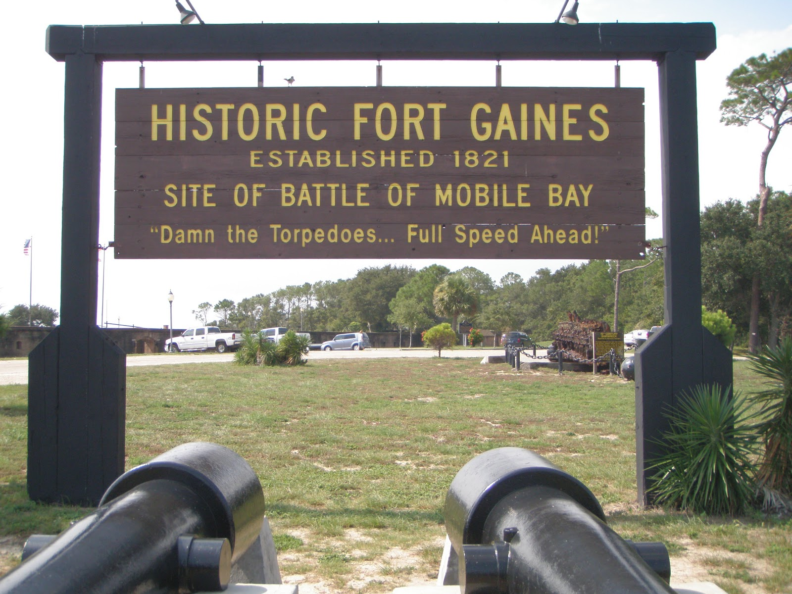 a view from inside fort gaines al