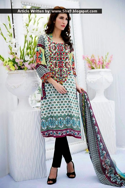 Zuni Embroidered Kurti Shirts in Lawn