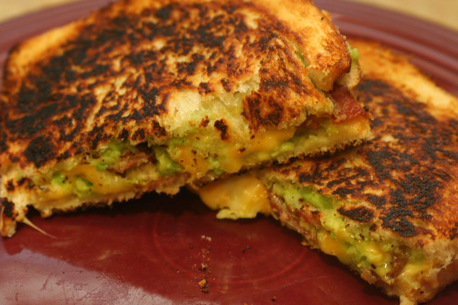 Cooking Claire: Bacon Guacamole Grilled Cheese Sandwich