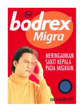 Dosis Obat BODREX MIGRA (Paracetamol, Propyphenazone dan Caffeine)