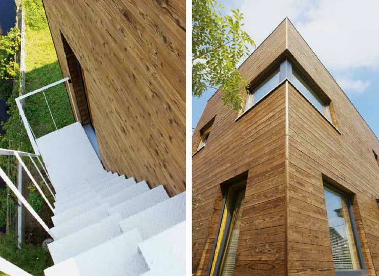 model tangga dan fasad rumah minimalis jepang