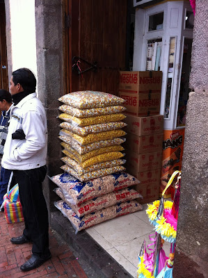 Small Shops Selling Crackers, Baby Jesus Outfits, Eggs, Party Supplies – Quito