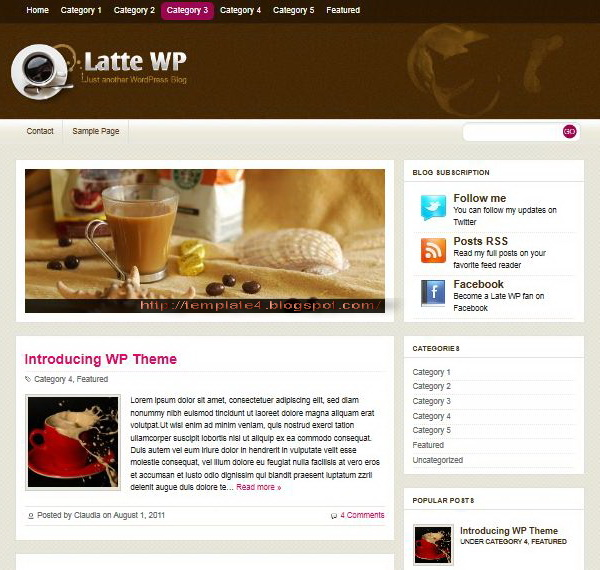 Latte WP WordPress Theme