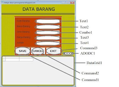 Capture5 - Cara Koneksi Database Office Access Ke Visual Basic 6.0 (Vb)