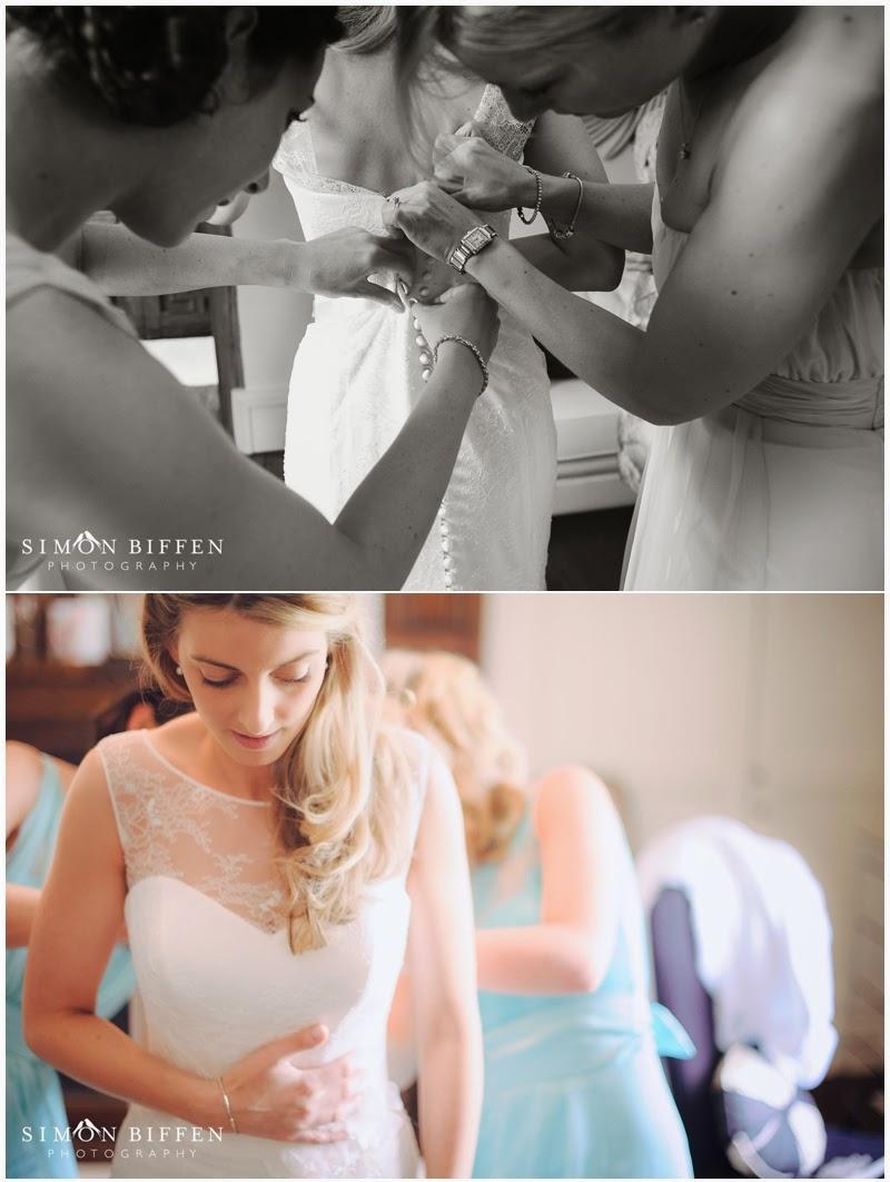 Bridal preparations dress