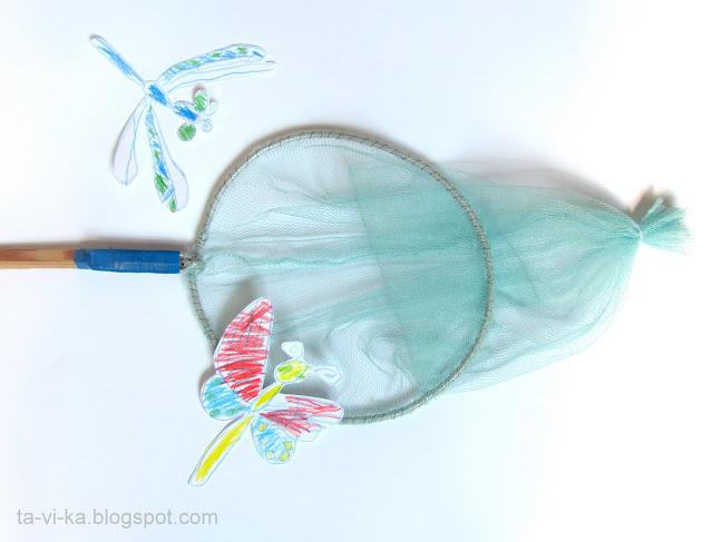 как сделать сачок для ловли бабочек