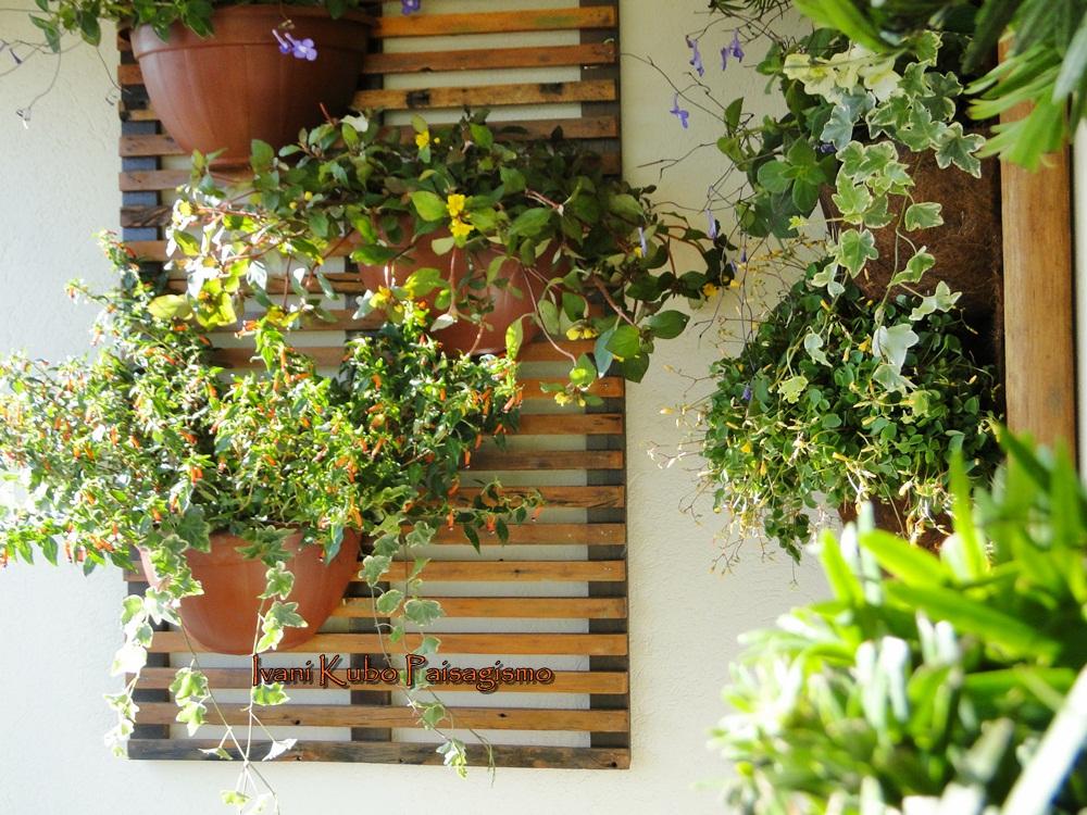 jardim vertical simples : Jardim Vertical Simples: Trelica de bambu para jardim ...