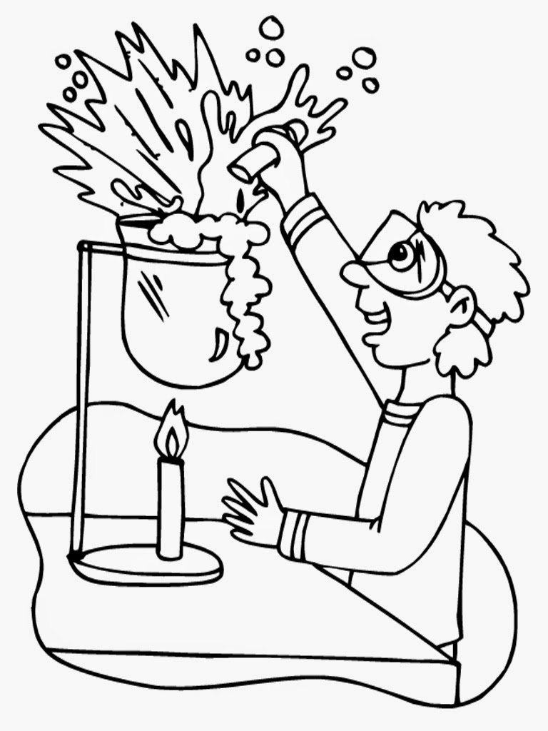 scientist coloring pages print