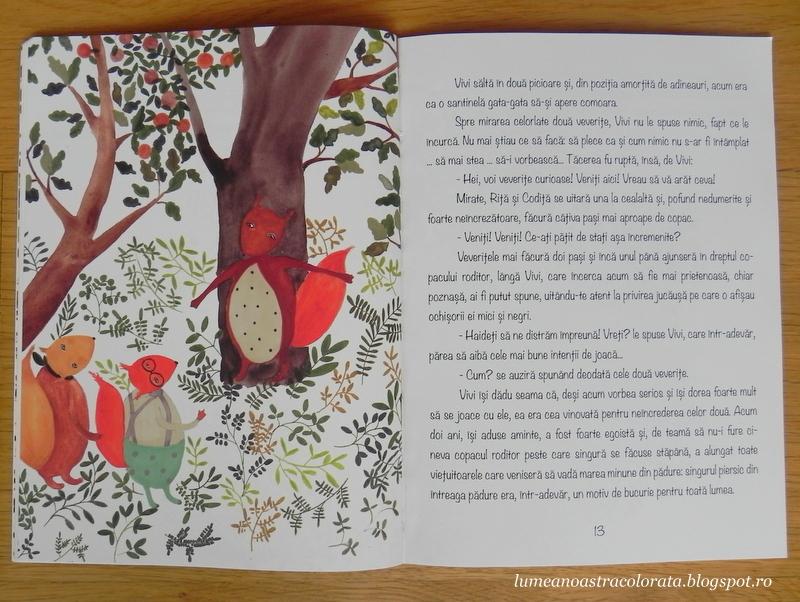 Vivi și copacul roditor de Dana Cristiana Maier, ilustrații de Cristina Barsony, editura Via