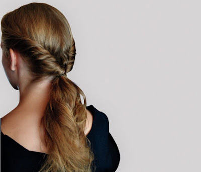 Low Looped Ponytail Hairstyle